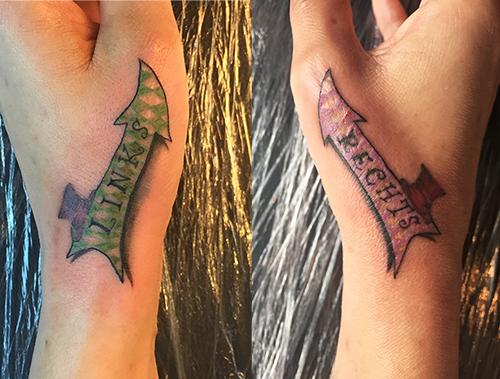 Links-rechts-Tattoo