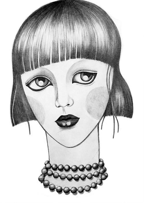 Perlenkette Illustration