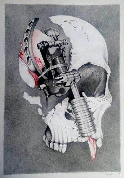 Skull mit Spule