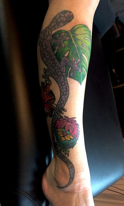 Urwald-Tattoo